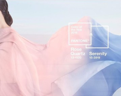 Pantone 2016 ROSE QUARTZ AND SERENITY